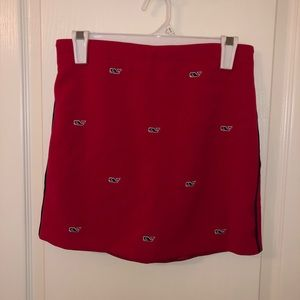 Vineyard Vines red skirt with whales Girls size 14